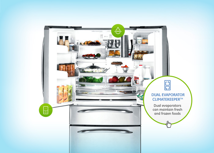 Kitchen Appliances Homepage Design