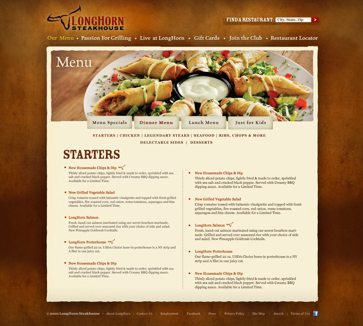 Steakhouse web design erman erkur