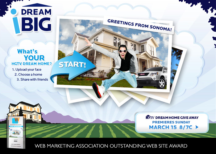 HGTV I Dream Big Microsite